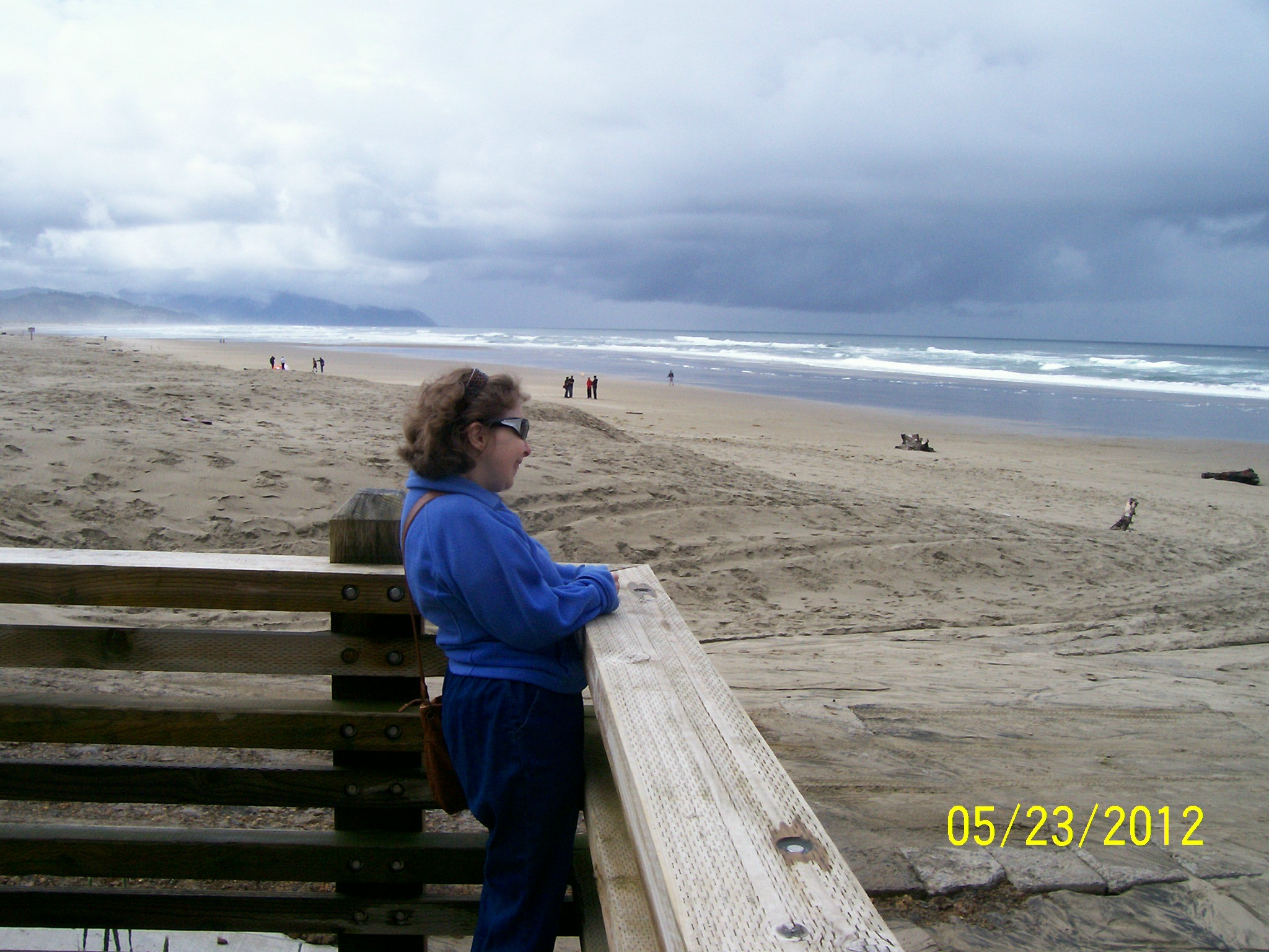 Me looking at the Pacific Ocean